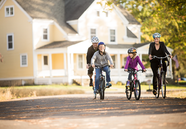 riding with kids as seasons change
