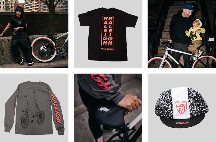 Raleigh x Staple apparel capsule and bike images