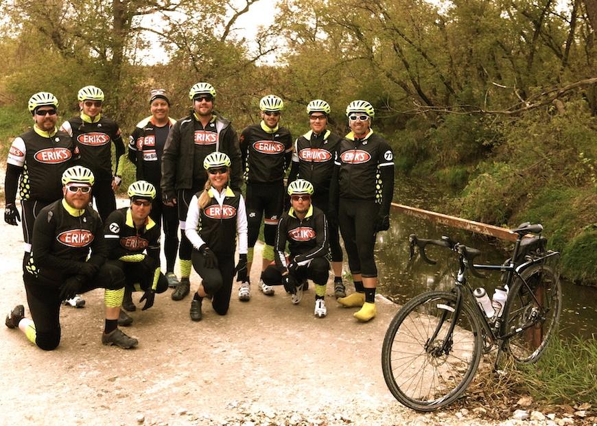 Erik's Bike Shop gravel riding team