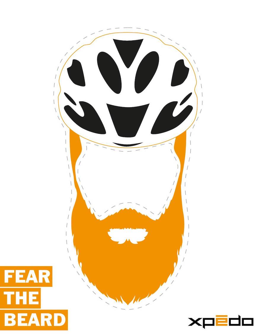 Raleigh cyclocross rider Robert Marion mask #fearthebeard