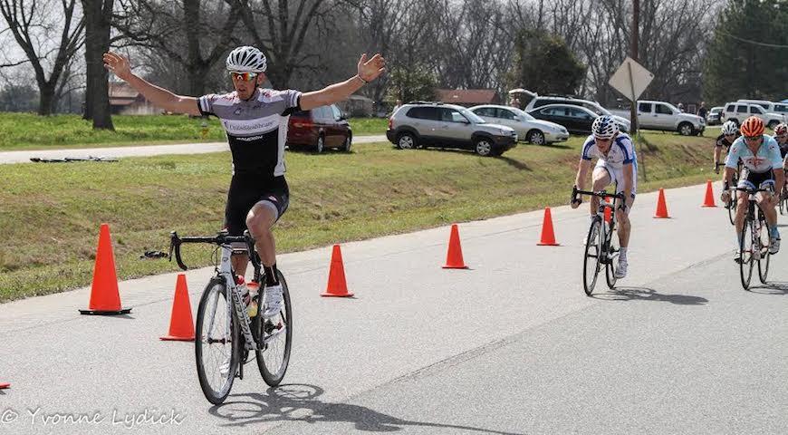 David Goodman taking the win!