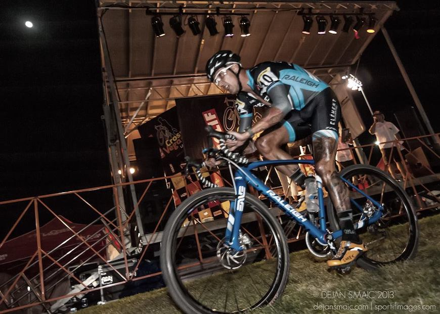 Ben Berden under the lights at Cross Vegas (photo by Dejan Smaic)