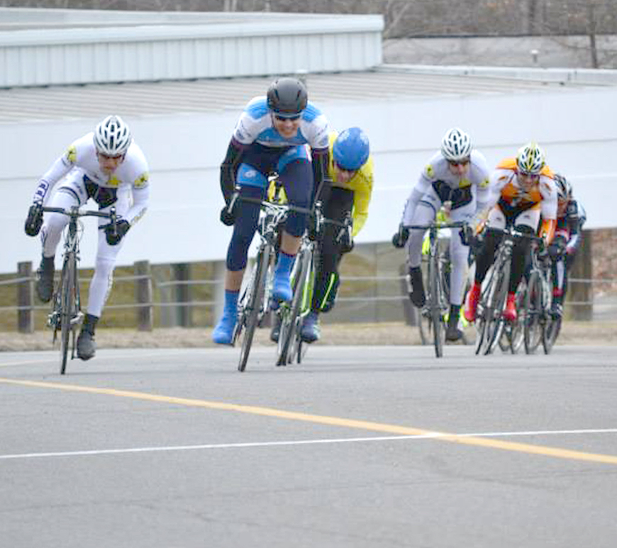 CCAP riders charge to the line in the race's finale