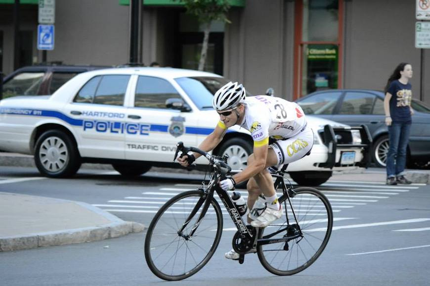 Dave Hoyle races in the Connecticut Cycling Festival