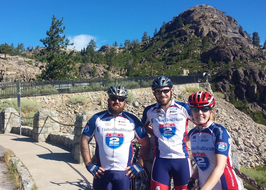 Blatchford (far left) will participate in Ride2Recovery this fall.