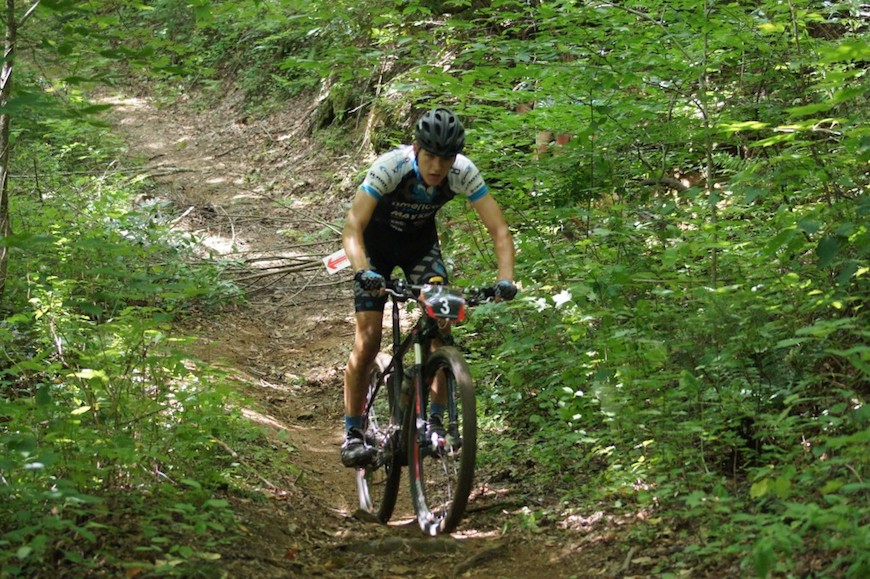 PHOTO: Chase rides his Raleigh Talus Carbon Pro 29 to 2nd place overall in the series