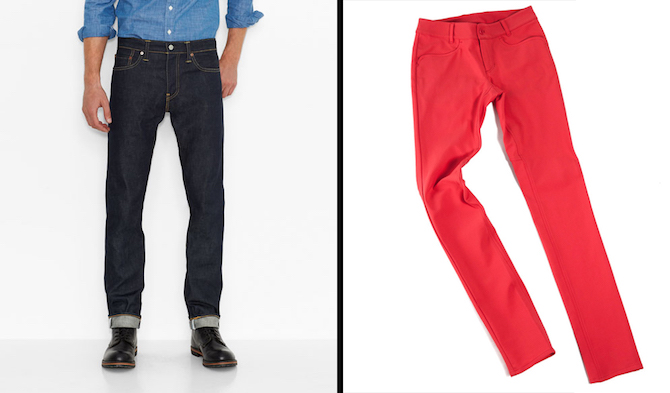 Levis and Outlier both offer fashion forward pants that are made for cycling.