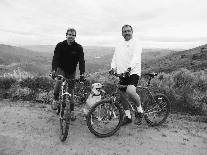 Cycling with Dad
