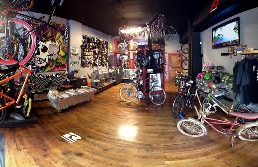 A view inside the shop. Image Courtesy of Spun Bicycles.