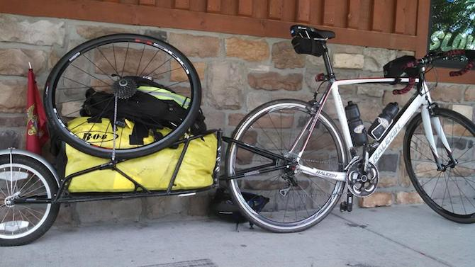 Jay's Militis 1 ready to haul supplies for the four month trip. Photo courtesy of Ride 2 Recovery and Pax2Pax.