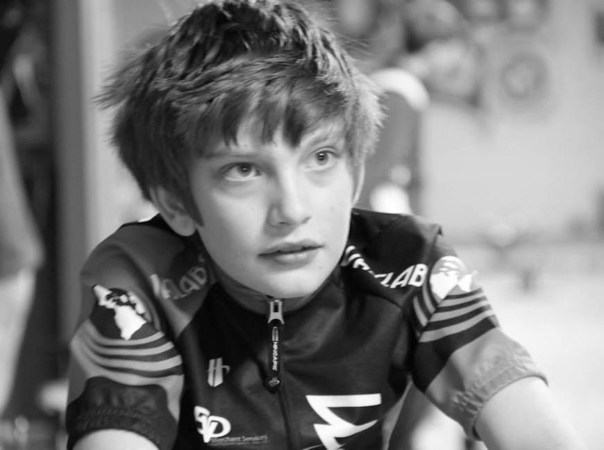 A junior racer from the Raleigh-sponsored WAS LABS team