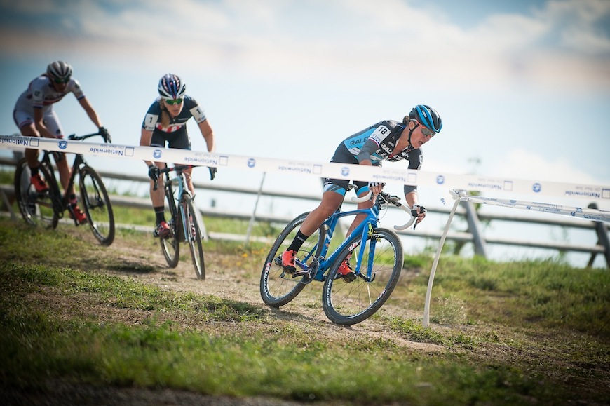 Caroline Mani races ahead of the competition. Photo Credit: Dejan Smaic