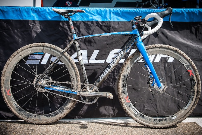 The RXC Pro Disc after a successful race around the course. Photo credit: Dejan Smaic