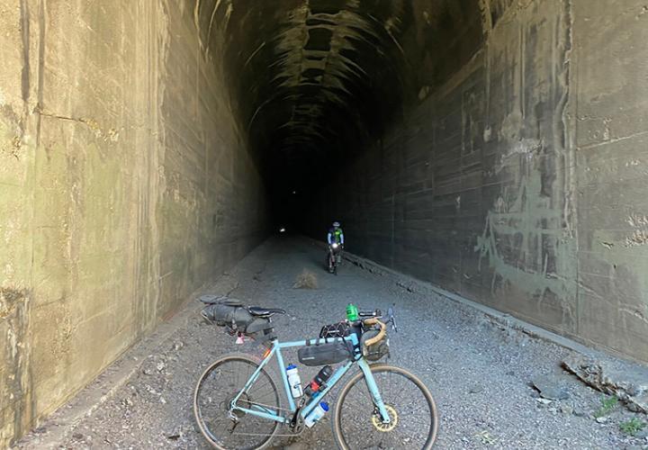 Exploring by adventure bike